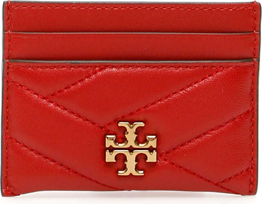 Tory Burch Kira Chevron Cardholder RED APPLE
