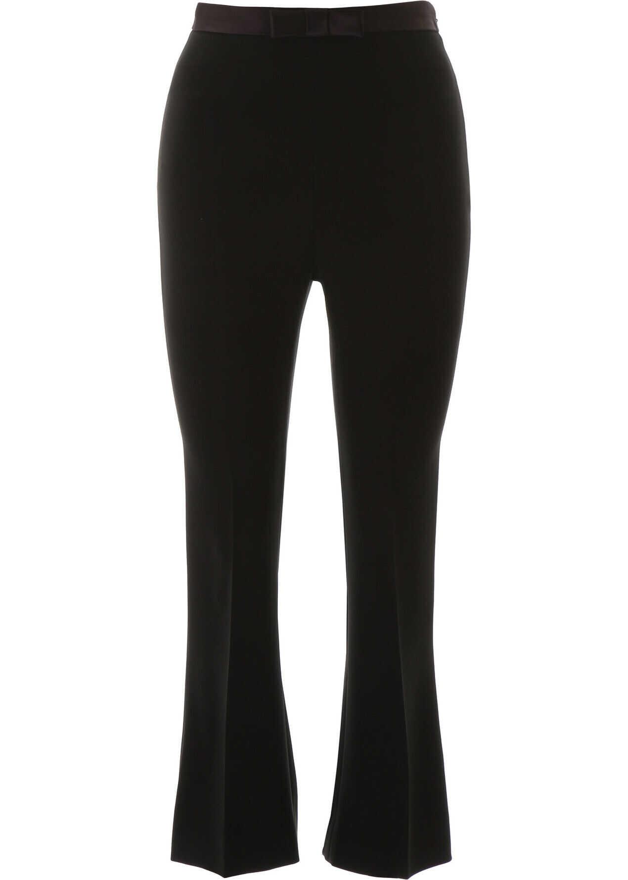 Miu Miu Trousers With Bow NERO