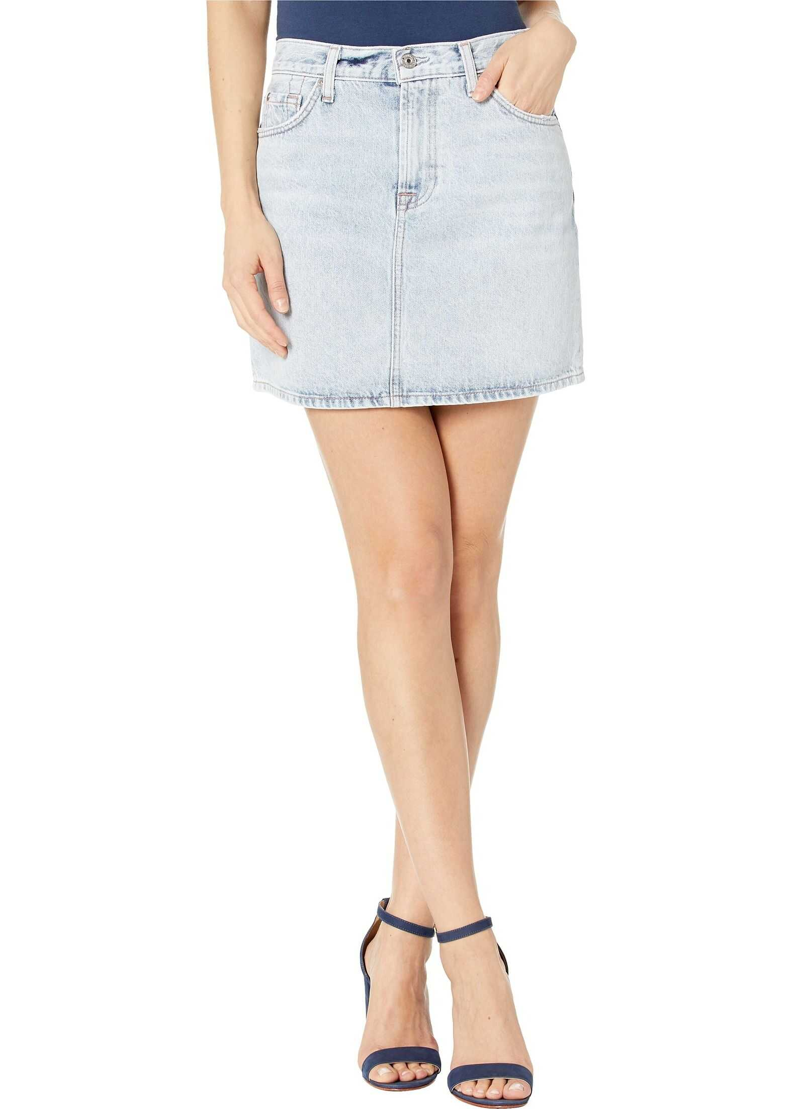 7 For All Mankind Mini Skirt in Cloud Blue Cloud Blue