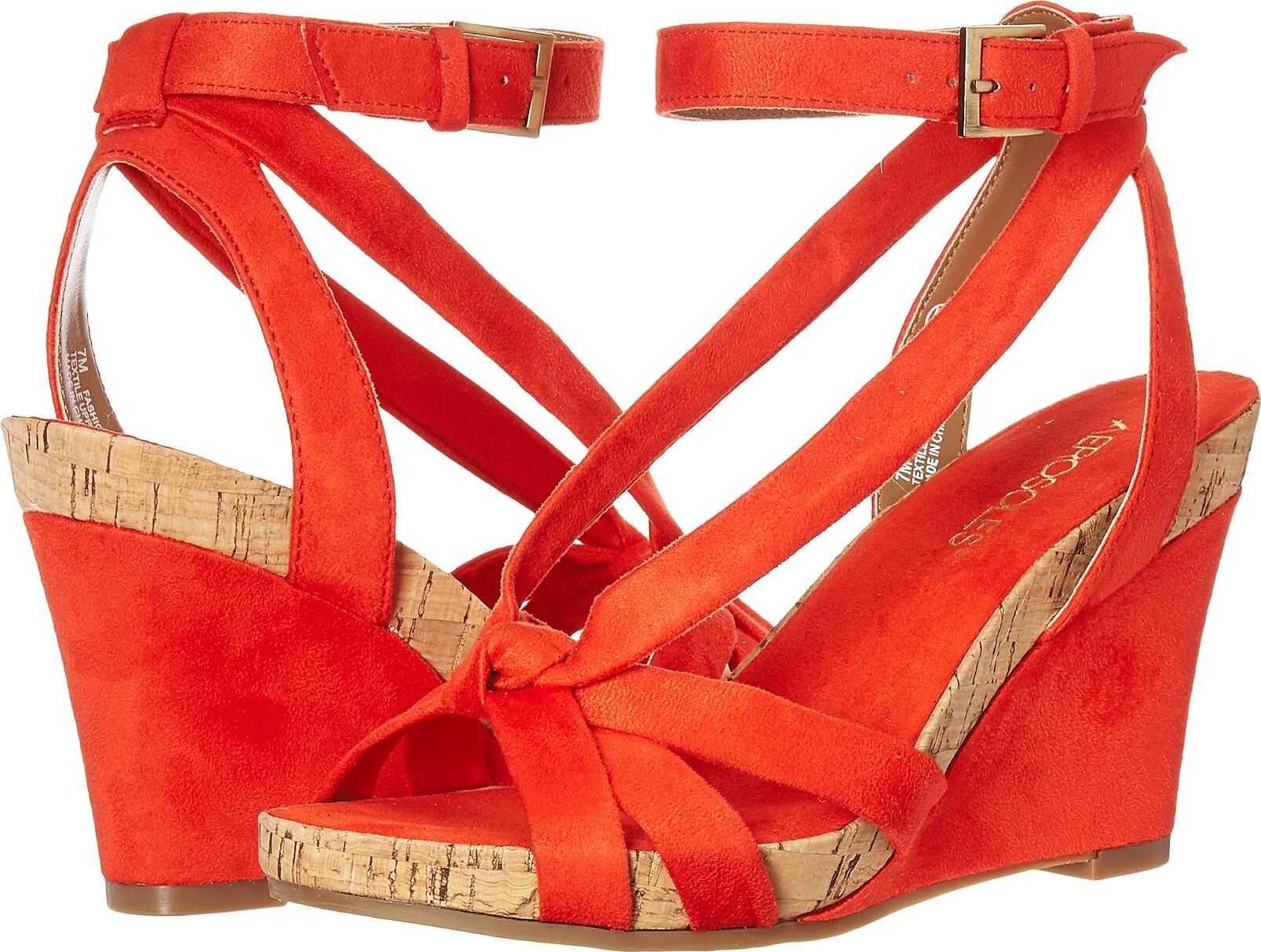 Aerosoles Fashion Plush Orange Fabric