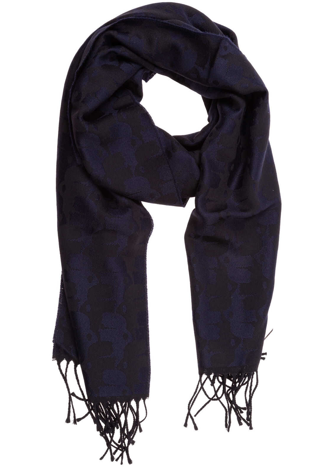 Karl Lagerfeld Wool Scarf Blue