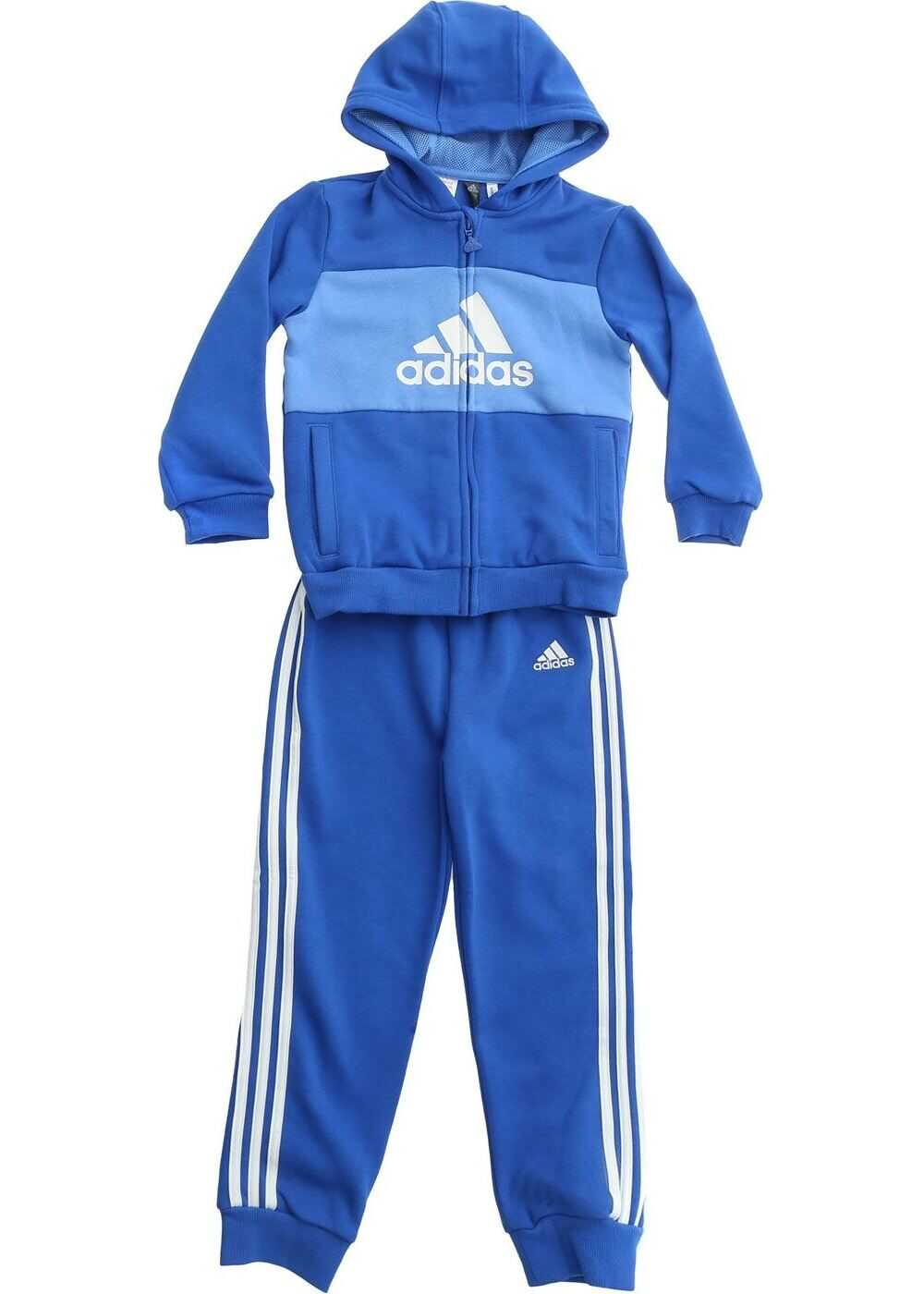 adidas Branded Tracksuit In Blue And Light Blue Blue