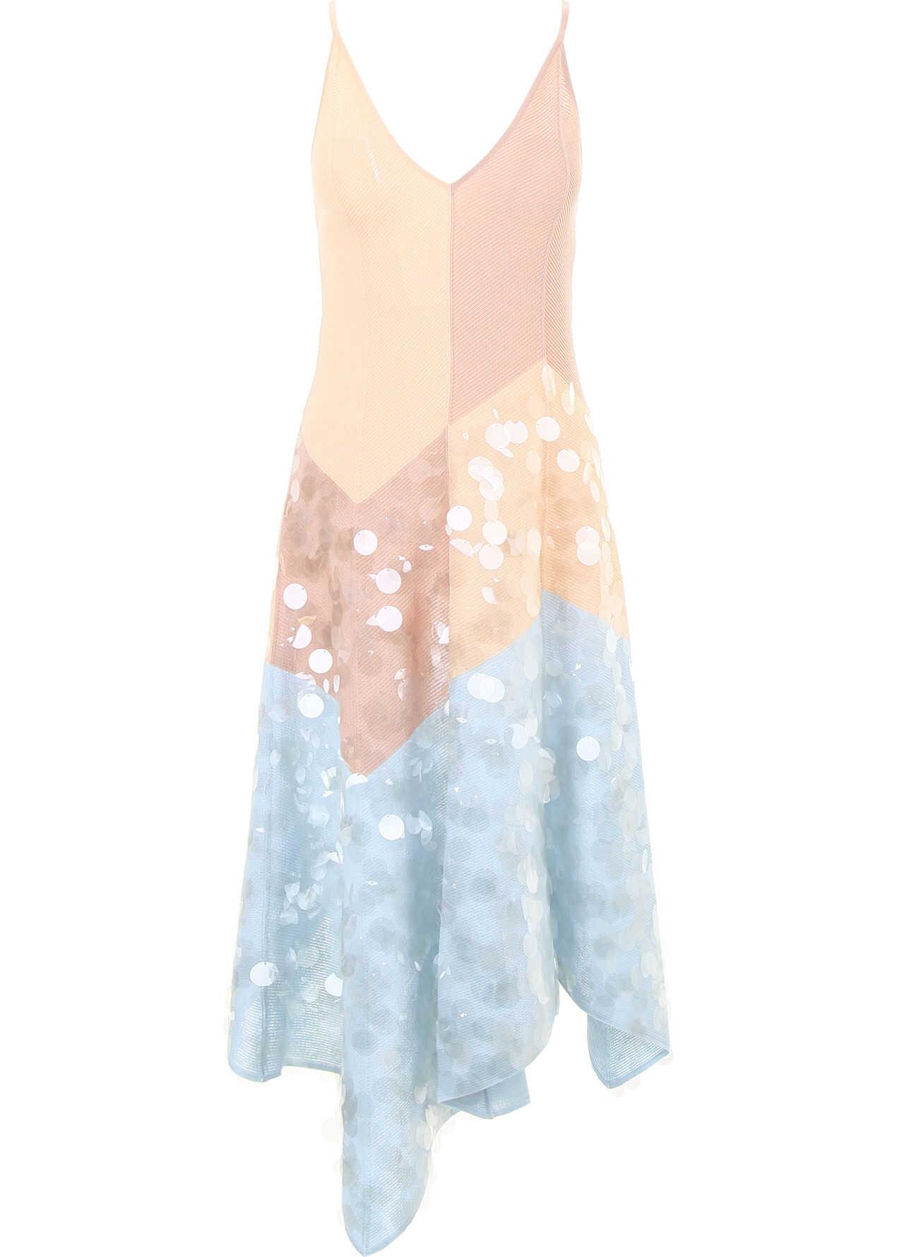 Bottega Veneta Knit Dress With Sequins ARTIC CAMEL PEACH ROSE