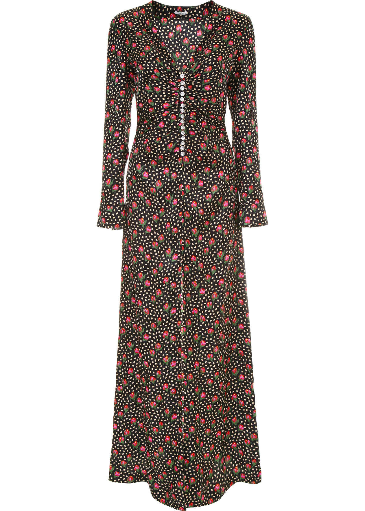 Miu Miu Rosebud Dress NERO