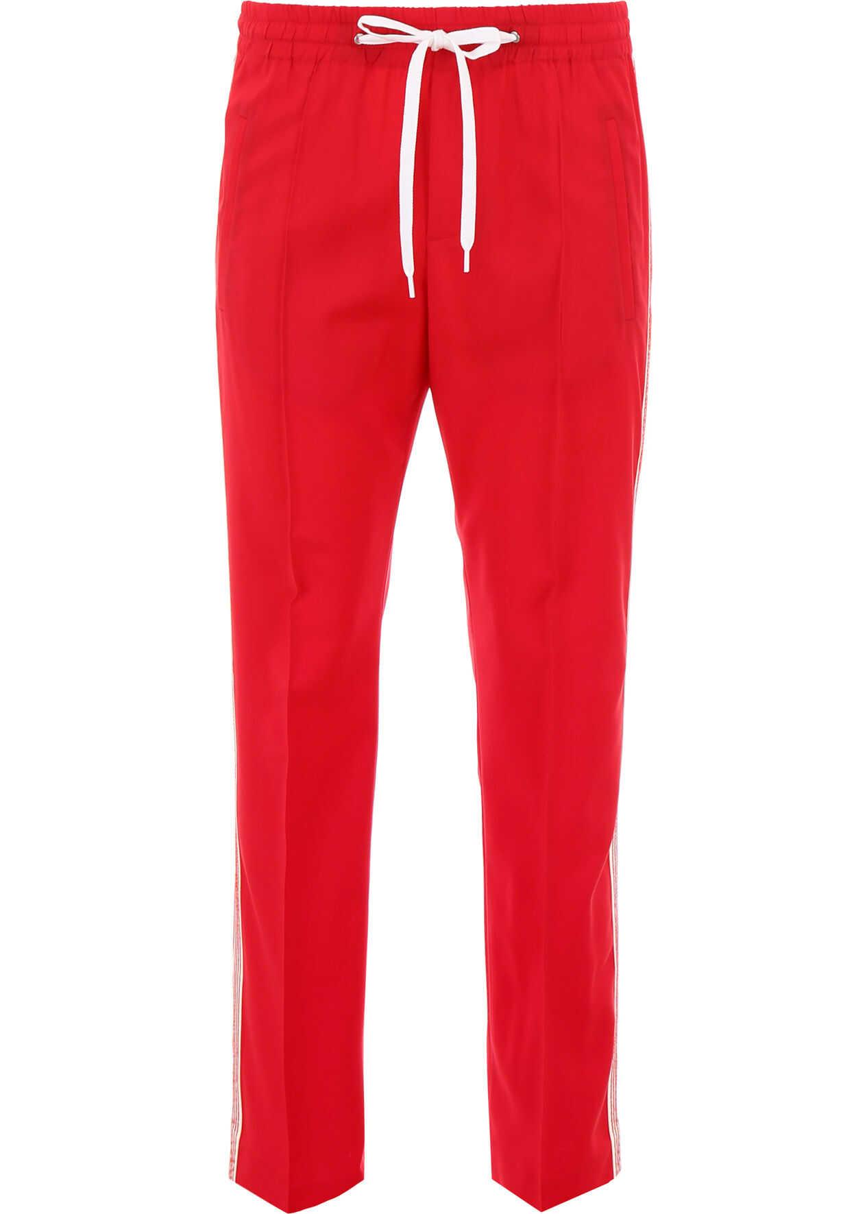 Miu Miu Sporty Underground Trousers ROSSO