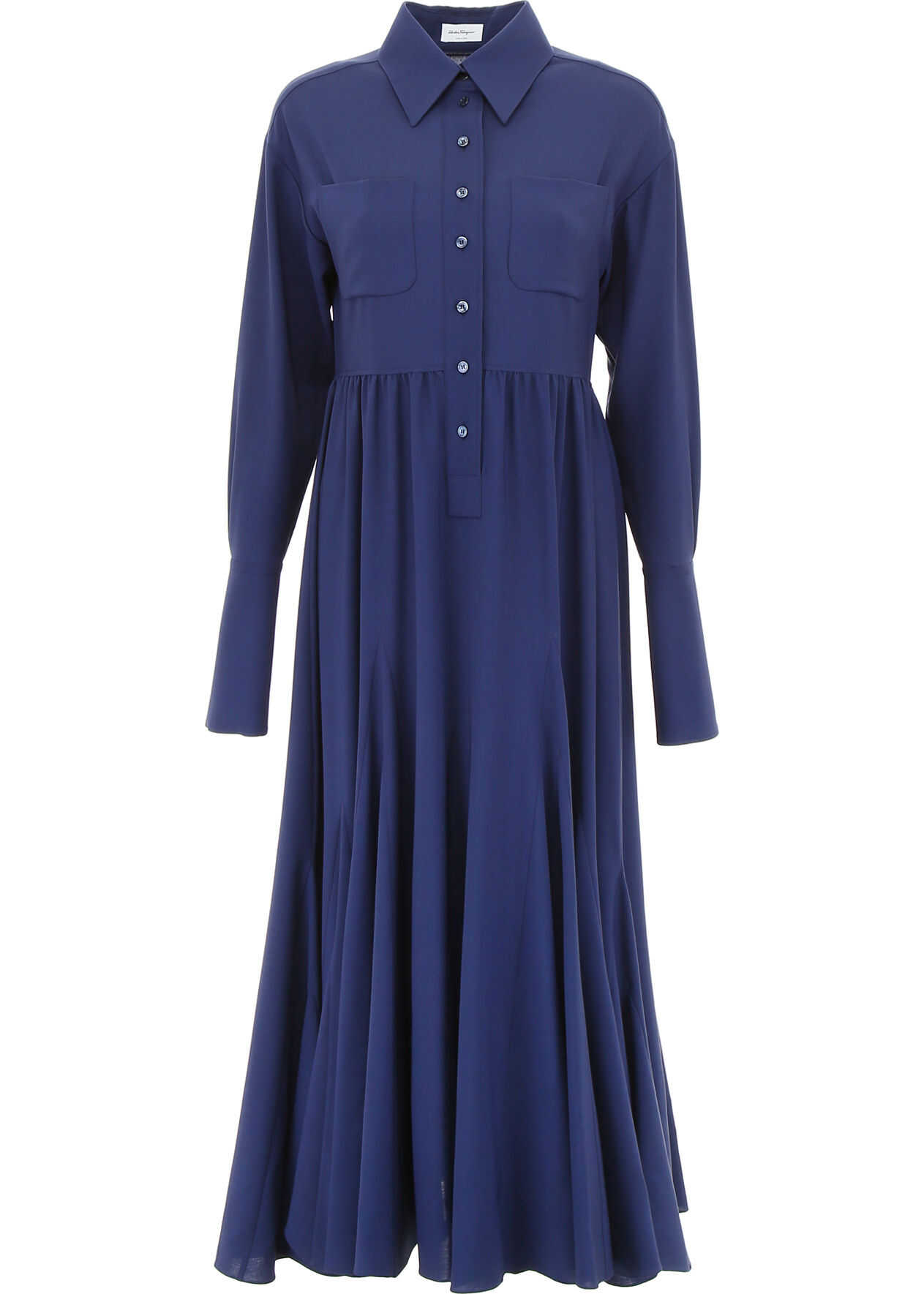 Salvatore Ferragamo Wool Dress BERLIN BLUE