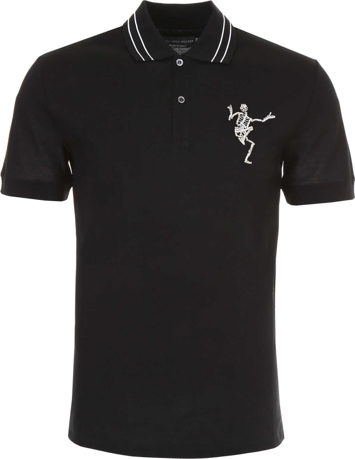 Dancing Skeleton Polo Shirt thumbnail