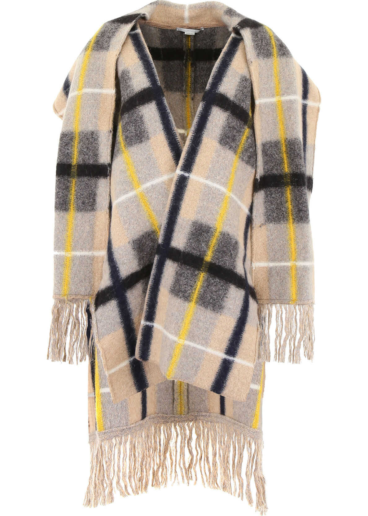 adidas by Stella McCartney Check Cape With Fringes CAMEL COLOURWAY
