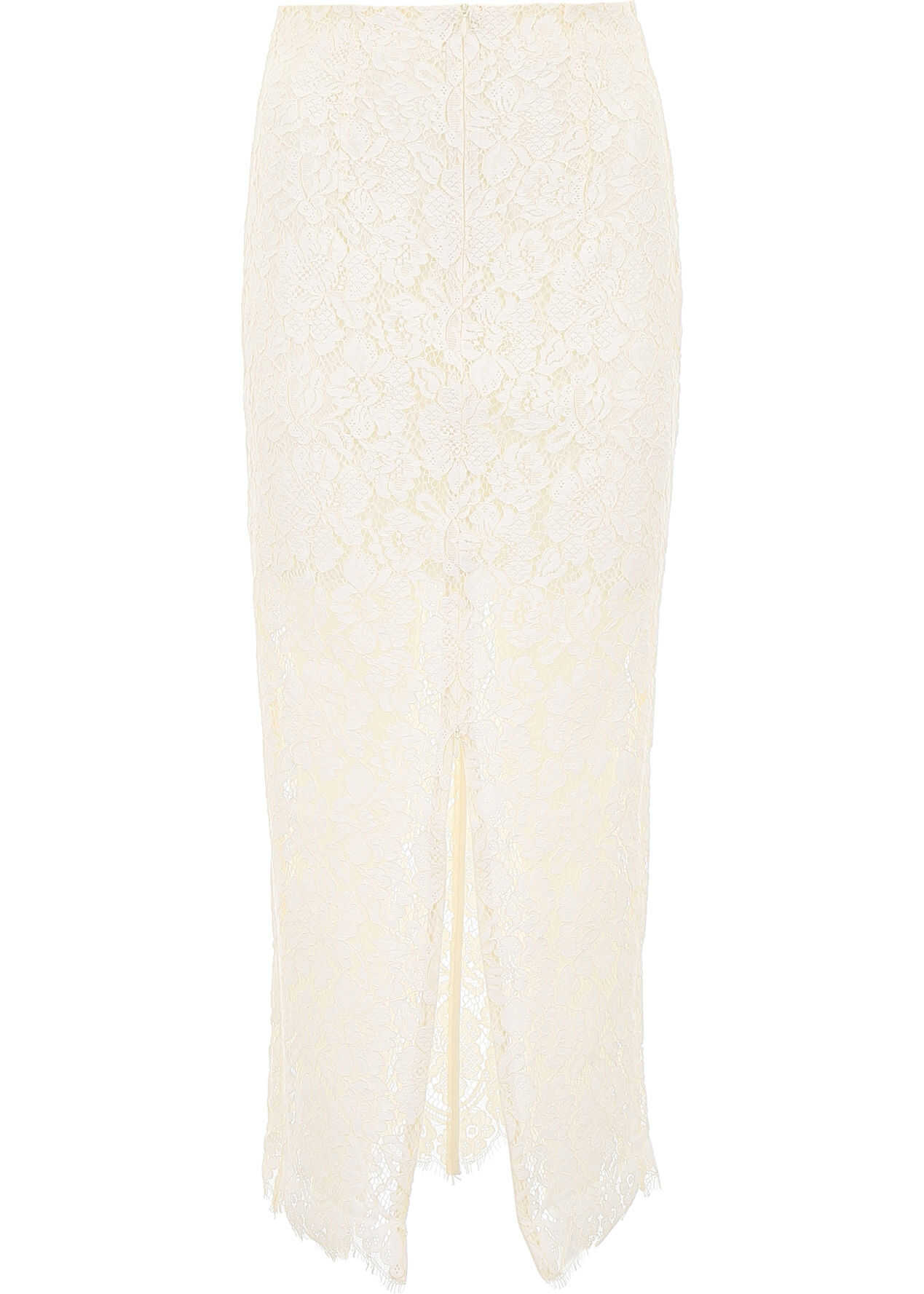Ganni Long Lace Skirt EGRET