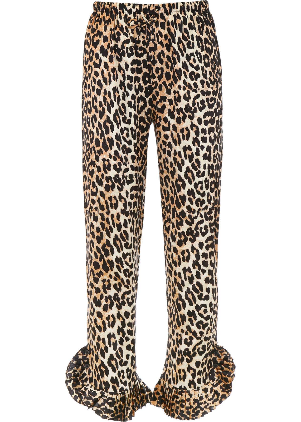 Ganni Calla Trousers LEOPARD
