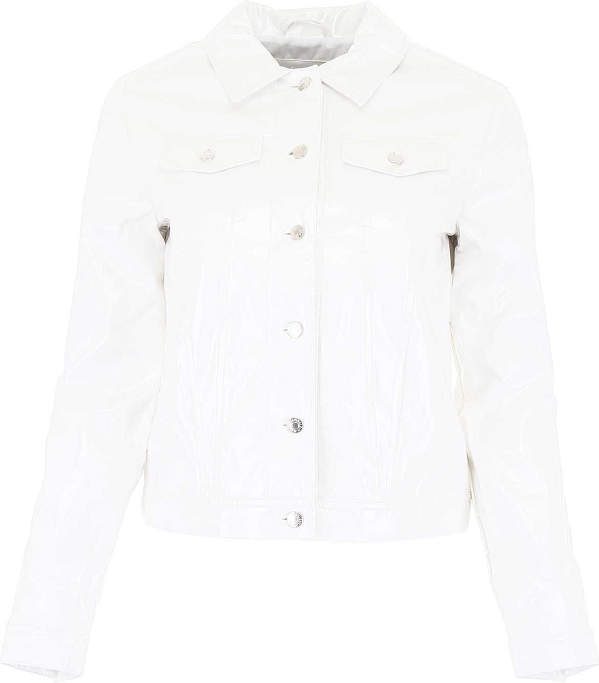 Calvin Klein Jeans Vinyl Jacket BRIGHT WHITE
