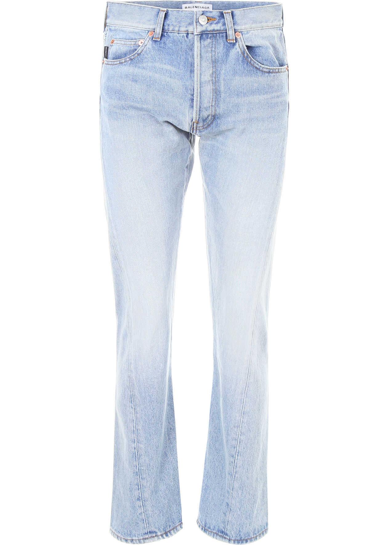 Balenciaga Twisted Leg Jeans DIRT SMOK L BLU