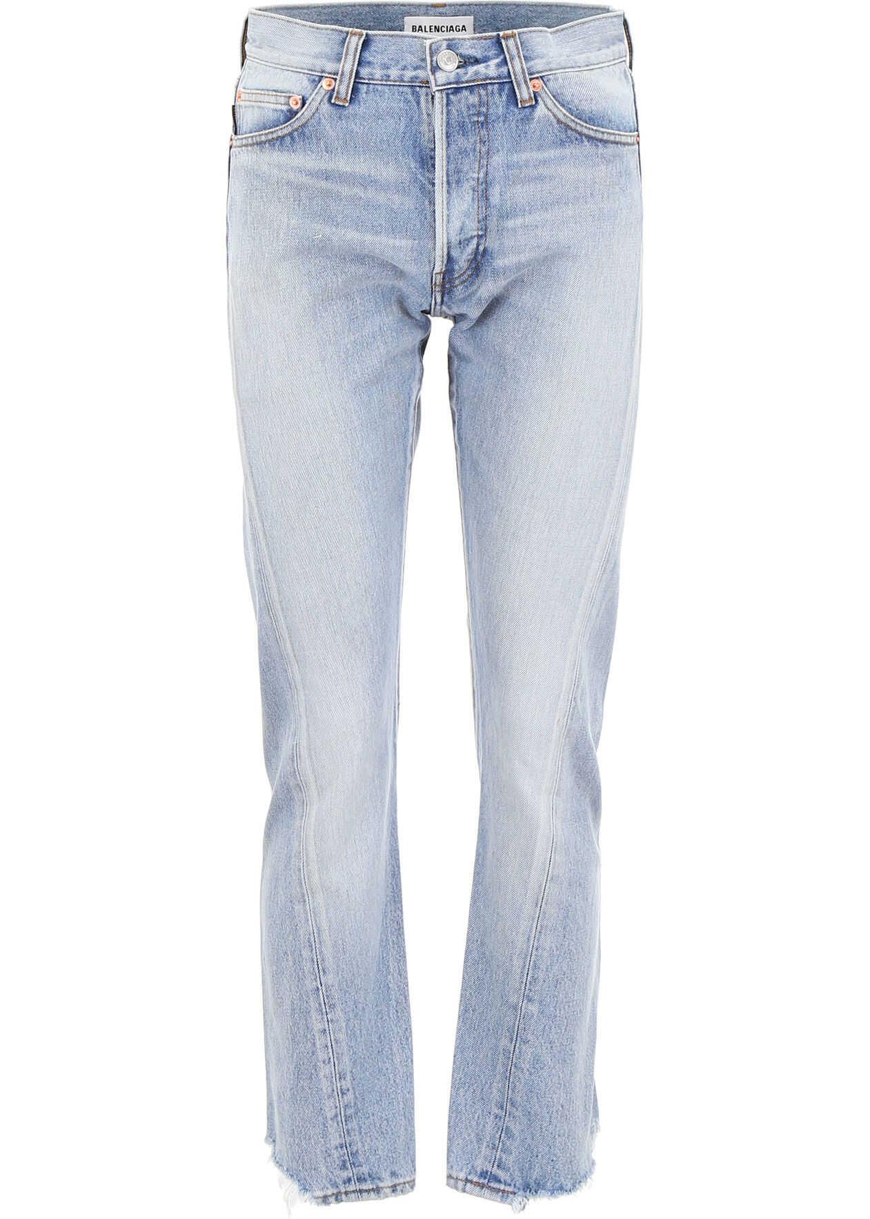 Balenciaga Denim Jeans DIRTY LIGHT BLUE