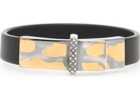 Bottega Veneta Leather Bracelet NERO