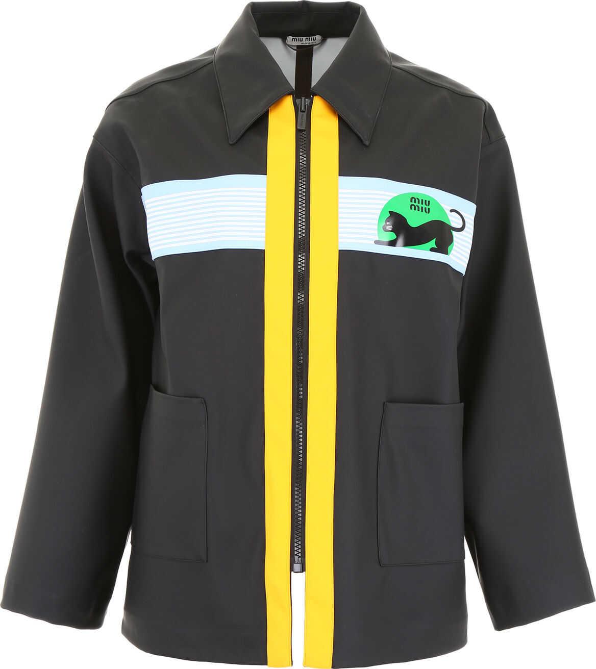 Waxed Raincoat With Logo