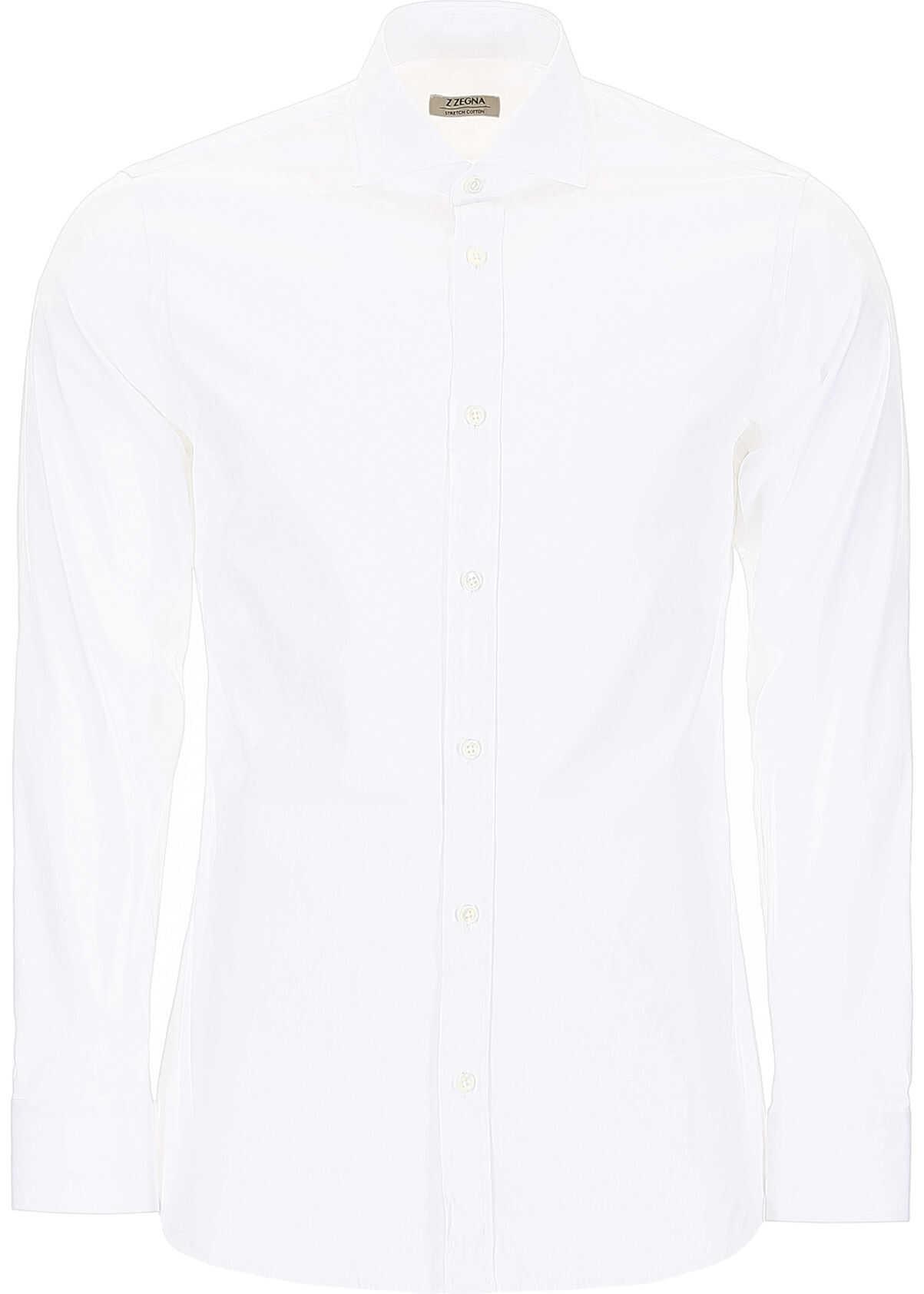 Z Zegna Cotton Shirt BIANCO OTTICO UNITO