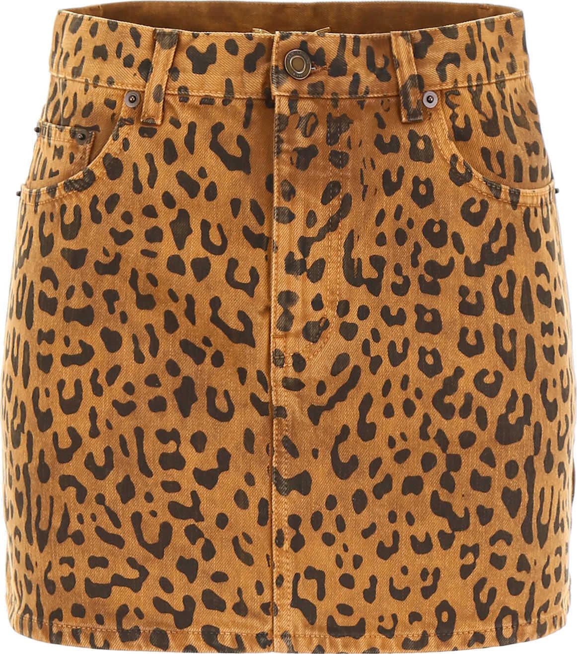 Leopard-Printed Mini Skirt thumbnail