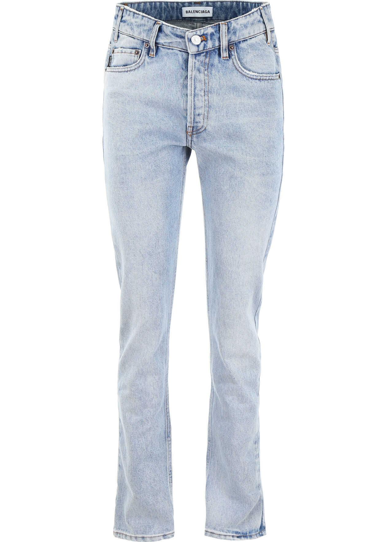 Balenciaga V Waist Jeans DIRTY LIGHT BLUE