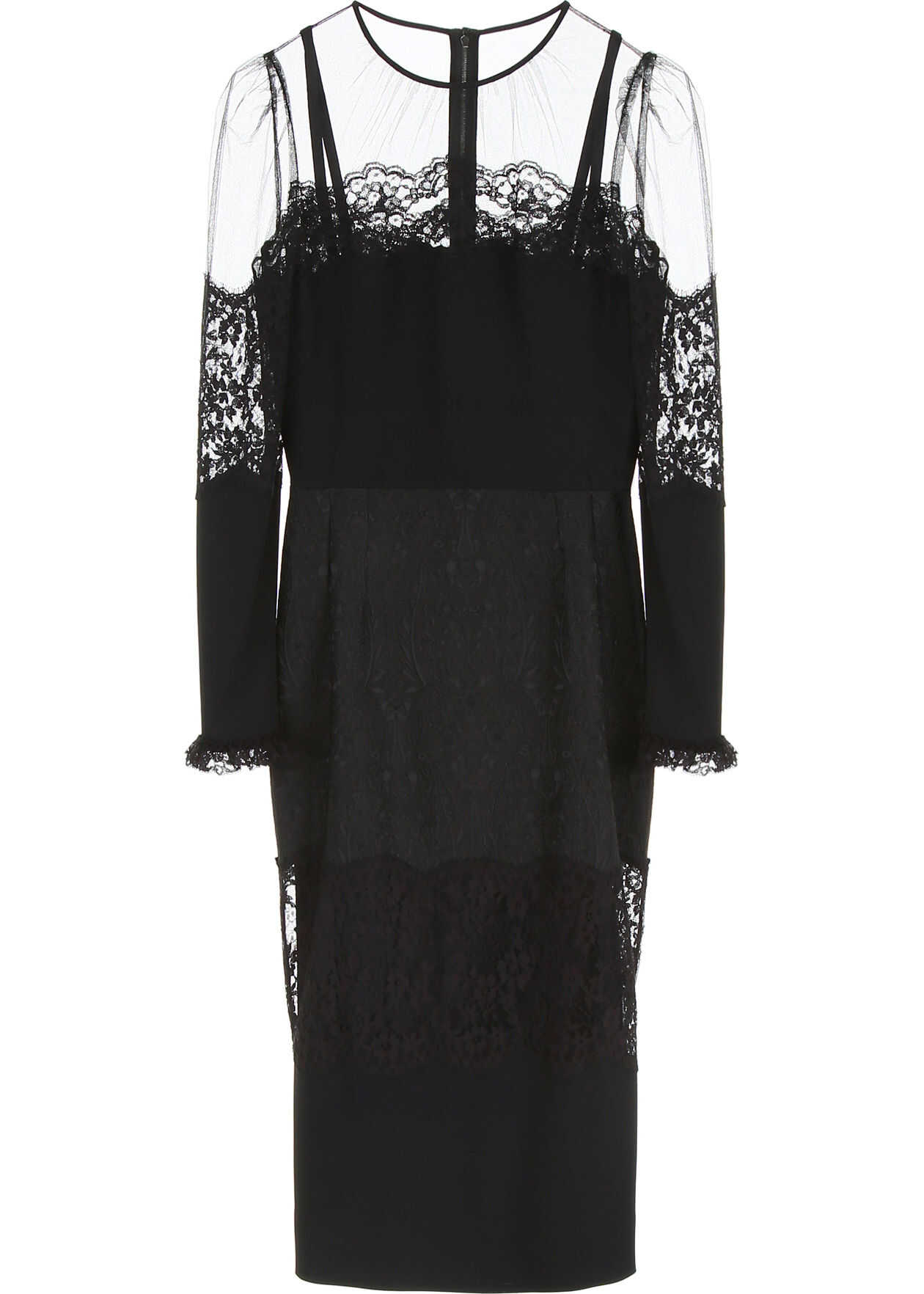 Dolce & Gabbana Dress With Lace NERO
