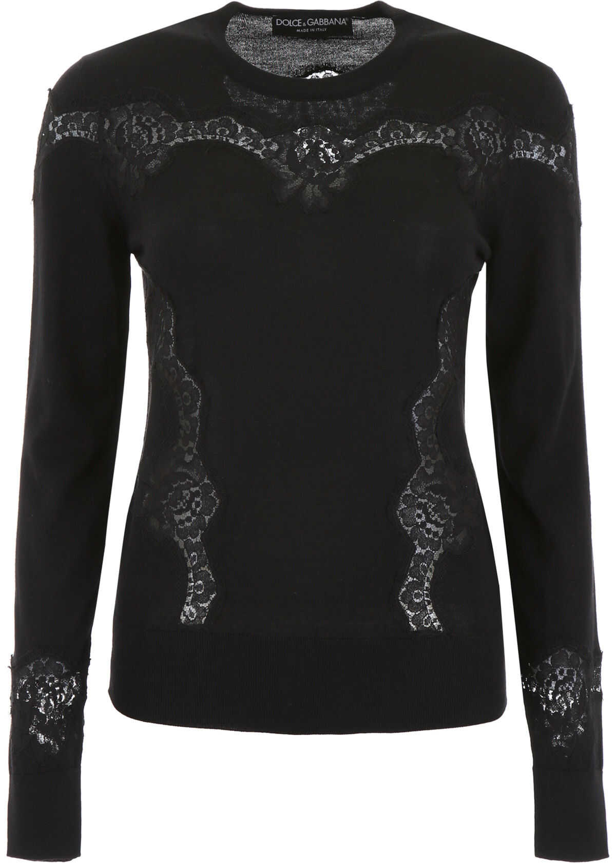 Dolce & Gabbana Pullover With Lace NERO