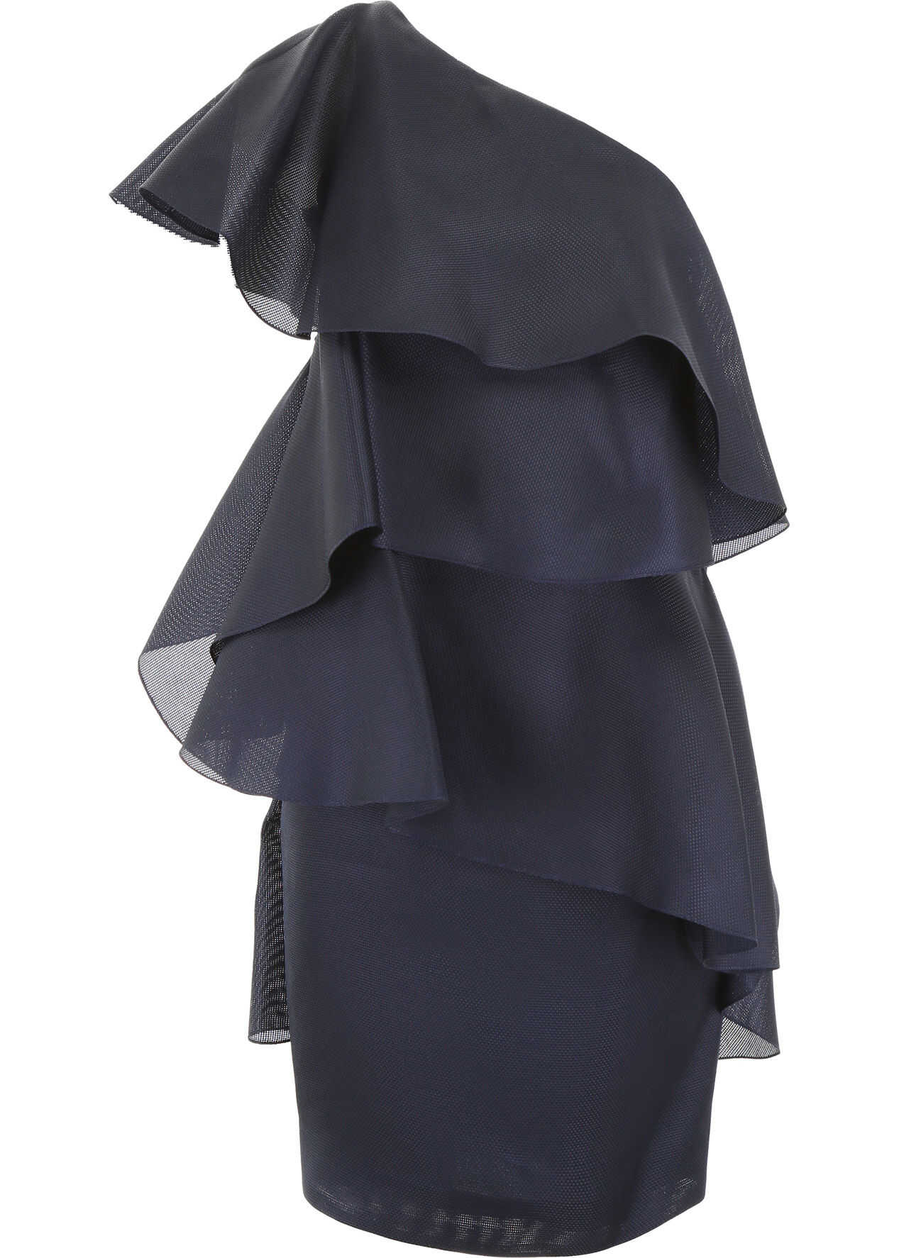 Lanvin Ruffled Dress NAVY BLUE