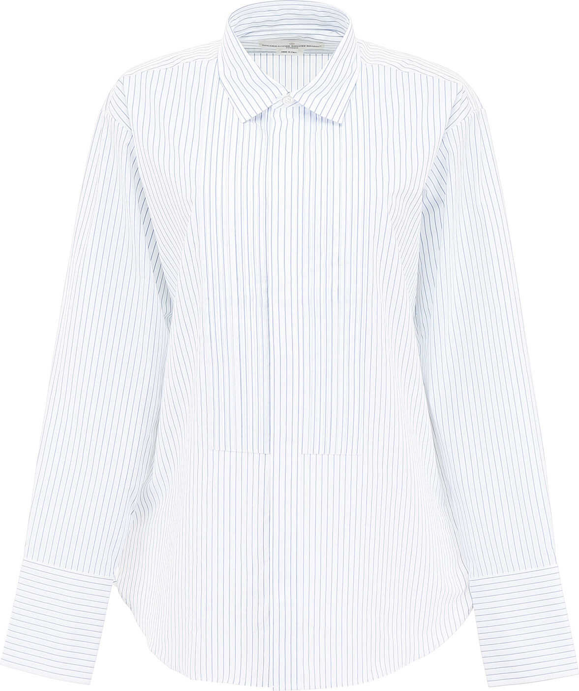 Golden Goose Striped Shirt With Plastron WHITE BLUE