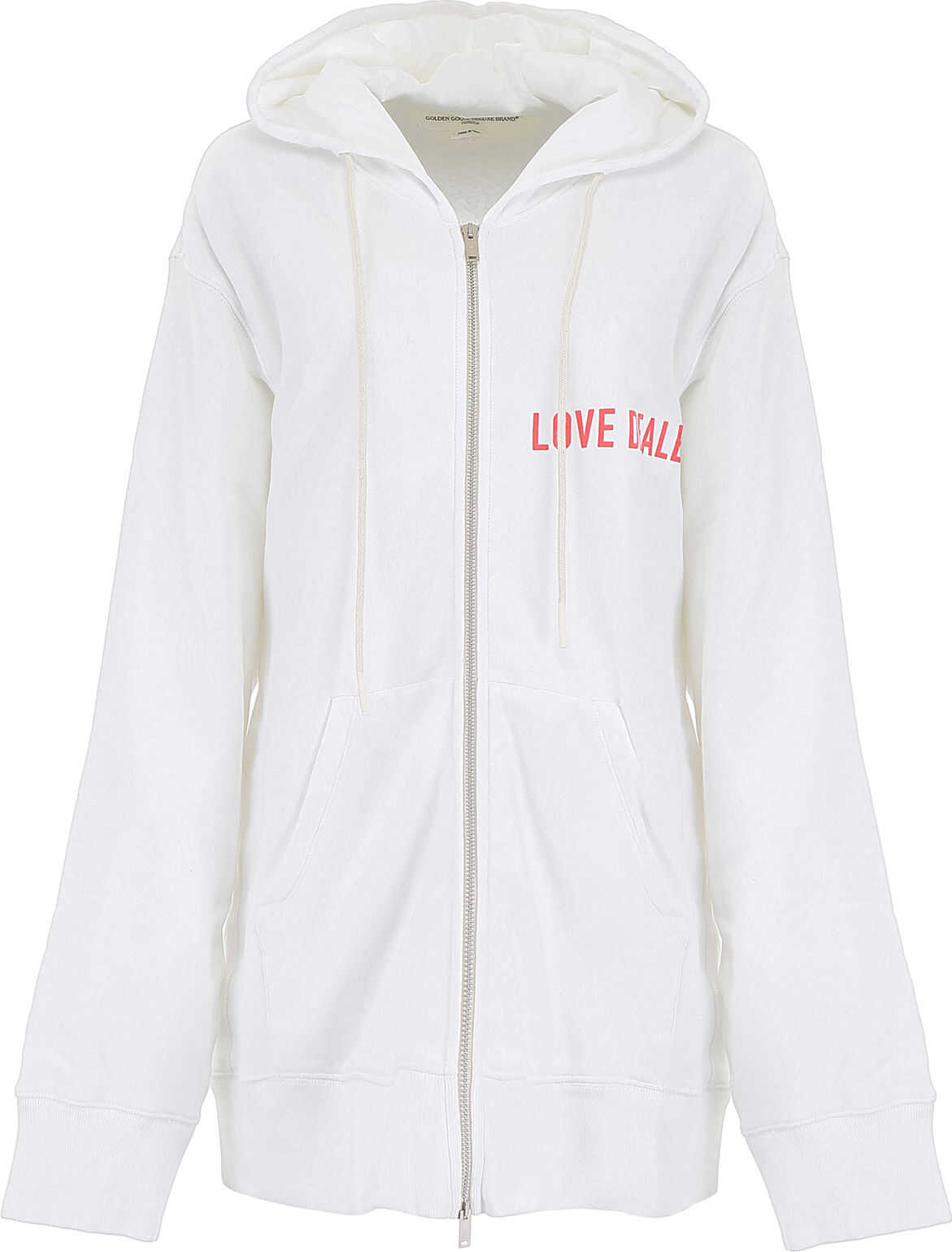 Golden Goose Love Dealer Hoodie WHITE RED