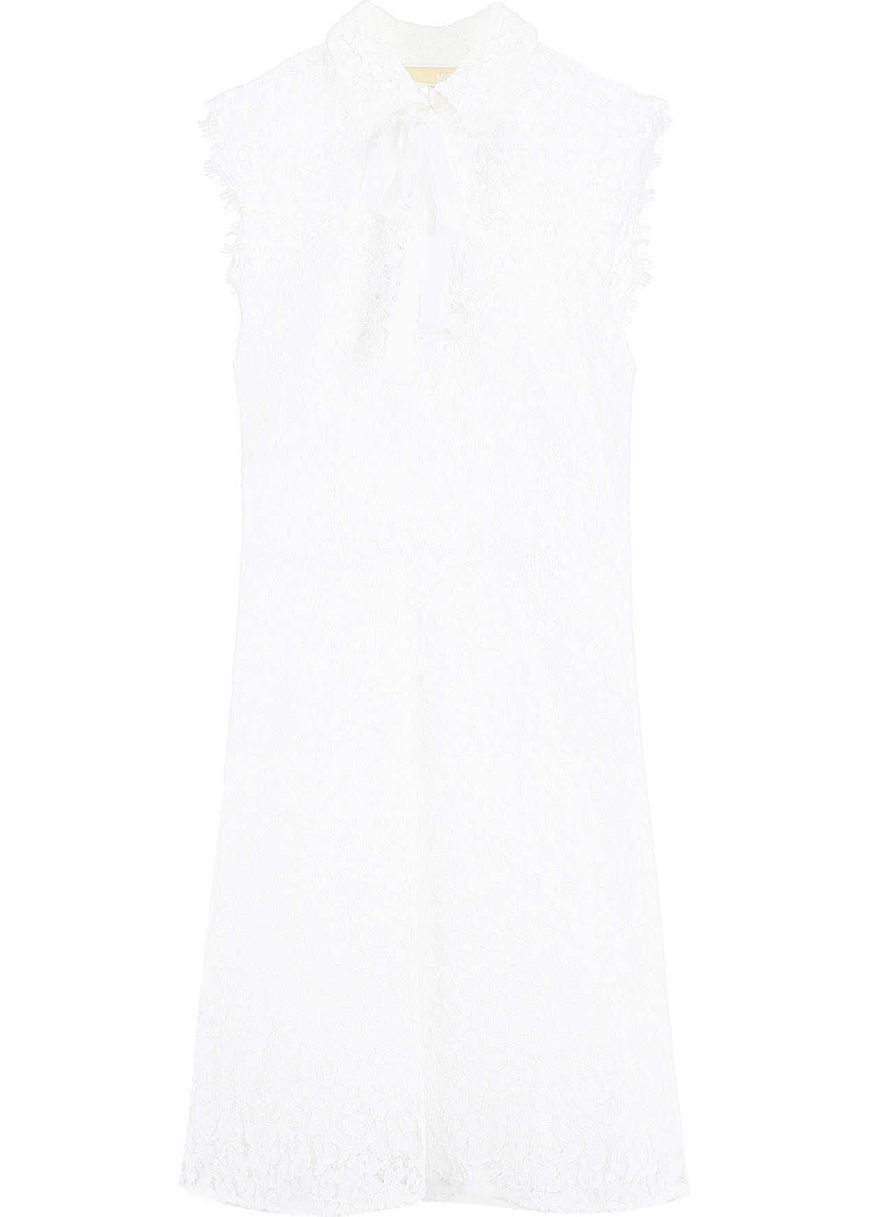 Michael Kors Lace Dress With Bow WHITE