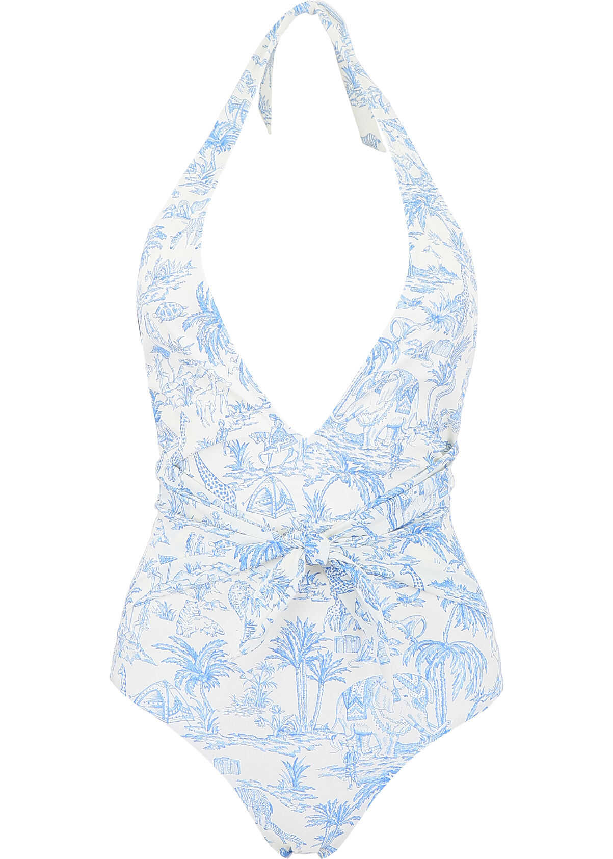 Tory Burch Printed Swimsuit IVORY FAR AND AWAY