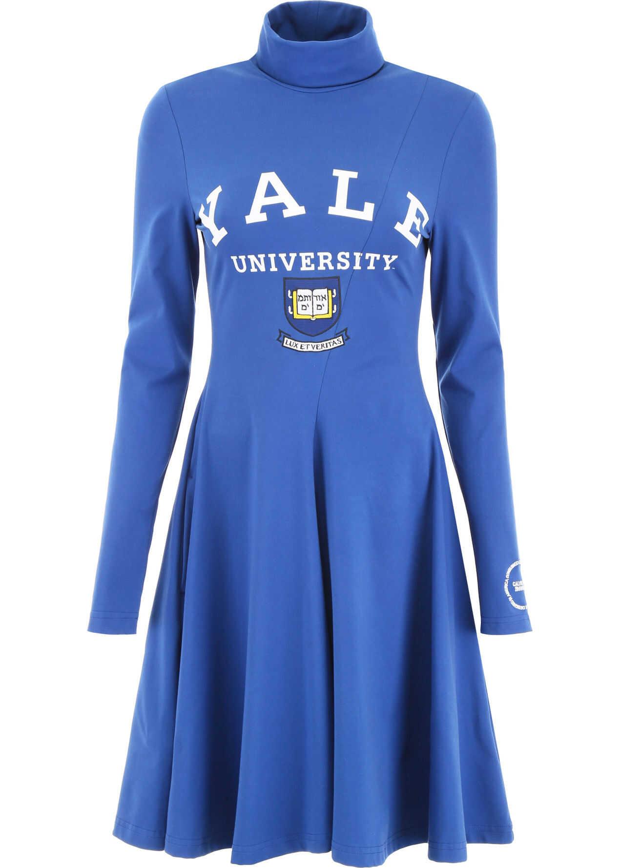 Calvin Klein 205W39NYC Yale University Dress YALE BLUE