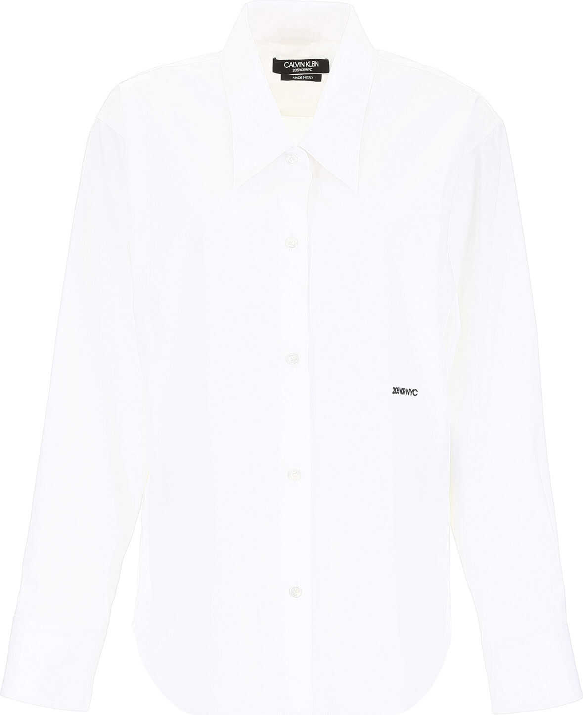 Calvin Klein 205W39NYC Oversized Shirt With Embroidery WHITE