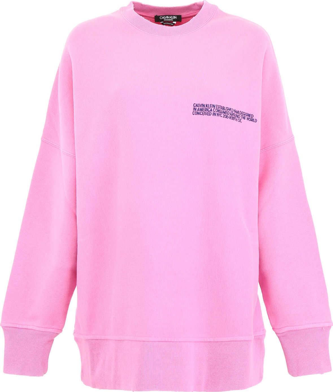 Calvin Klein 205W39NYC Oversized Sweatshirt With Logo DARK ANEMONE