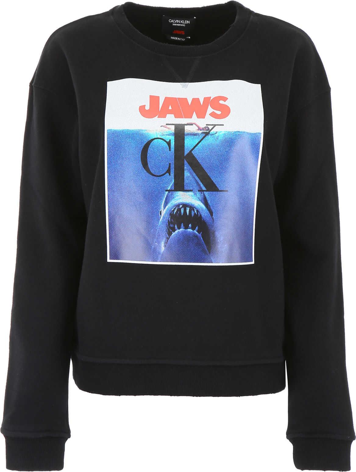 Calvin Klein 205W39NYC Jaws Sweatshirt BLACK