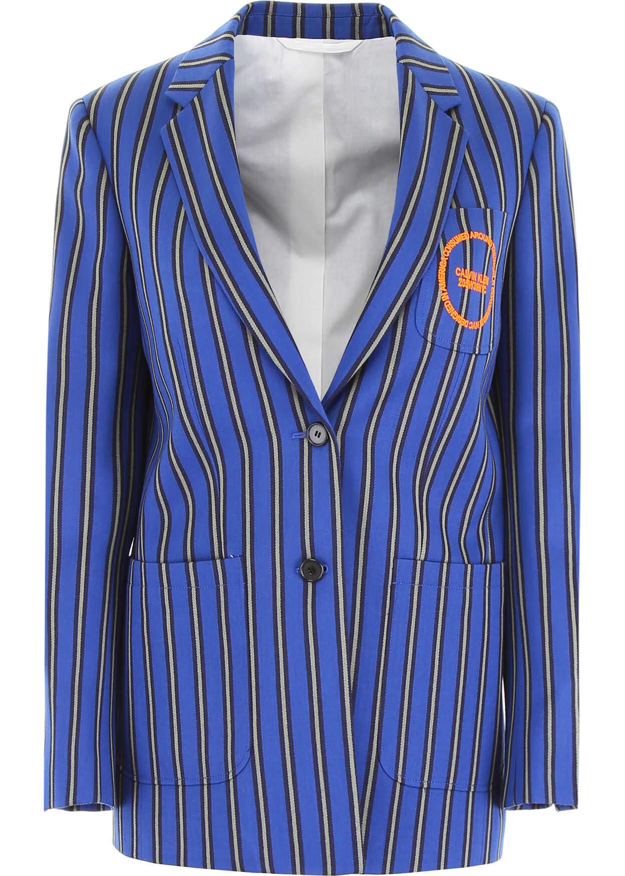 Calvin Klein 205W39NYC Striped Jacket BLUE