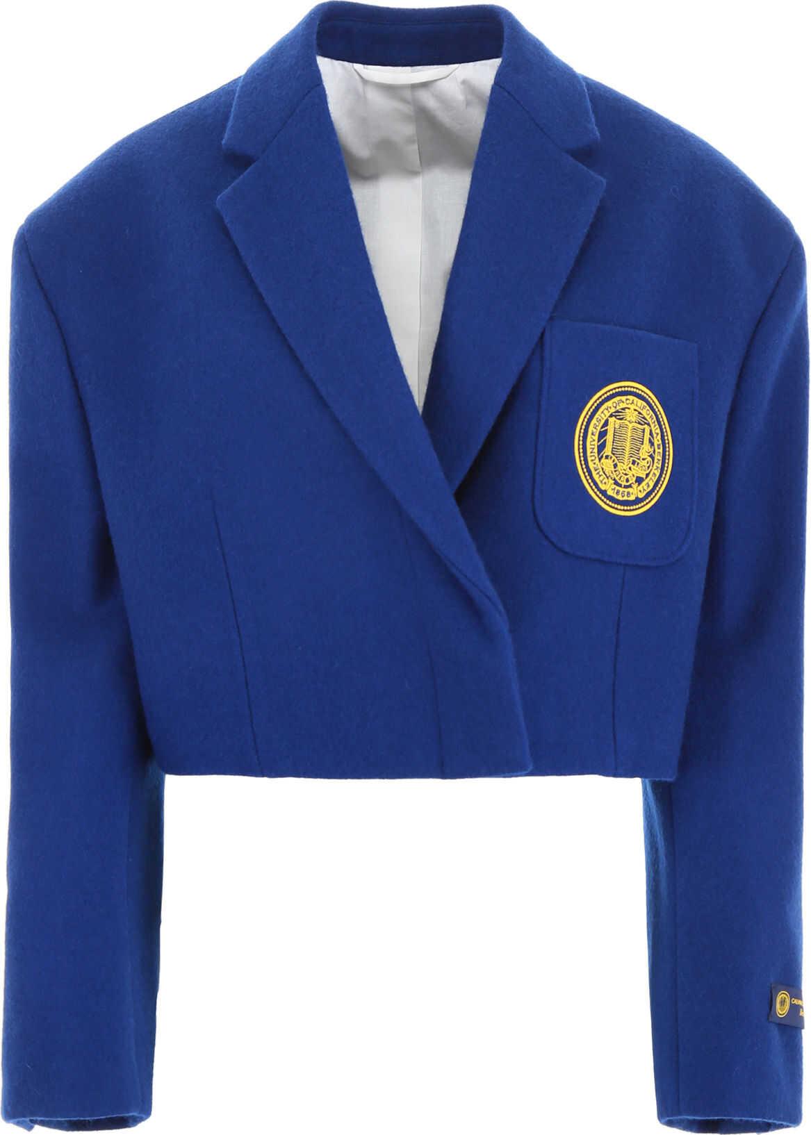Calvin Klein 205W39NYC Cropped Blazer With Patch BLUE
