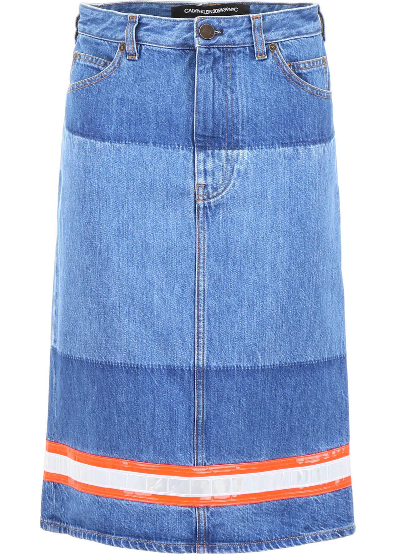 Calvin Klein 205W39NYC Denim Skirt BLUE