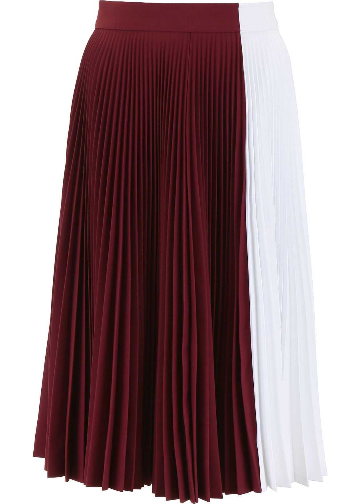 Calvin Klein 205W39NYC Bicolor Skirt ACAJOU OPTIC WHITE