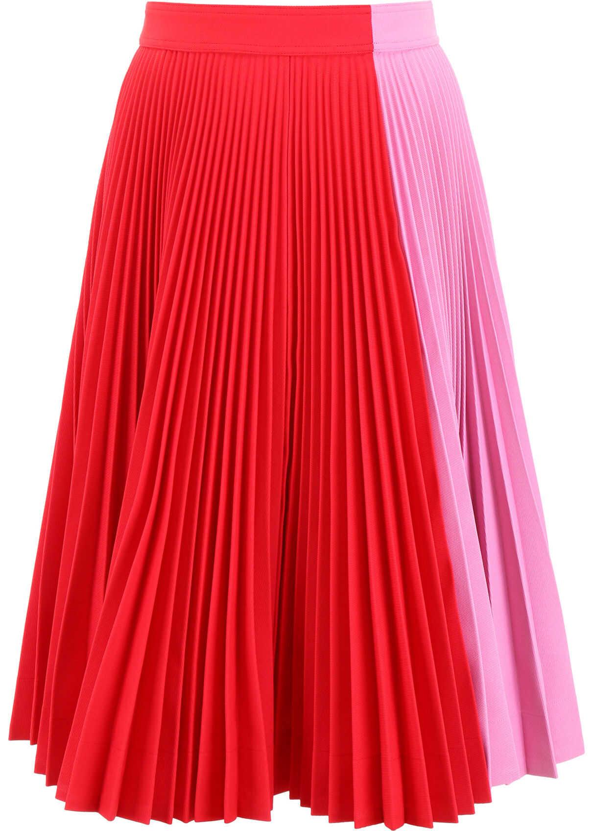 Calvin Klein 205W39NYC Bicolor Pleated Skirt SCARLETANEMONE