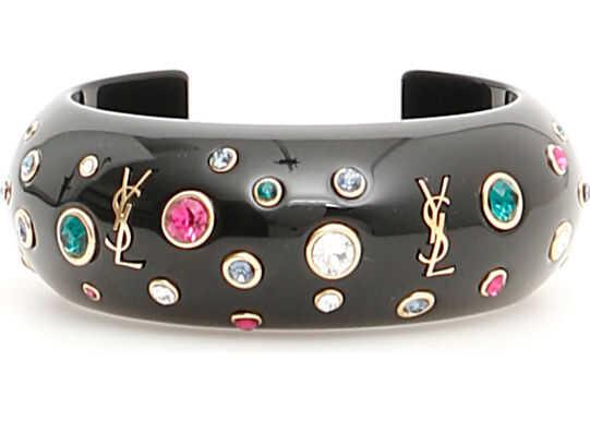 Saint Laurent Eighties Cuff Bracelet DORE NOIR VER FUS CR