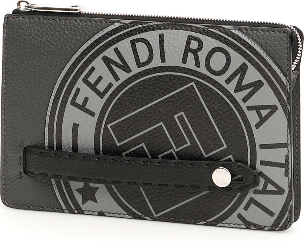 Fendi Roman Leather Logo Clutch thumbnail