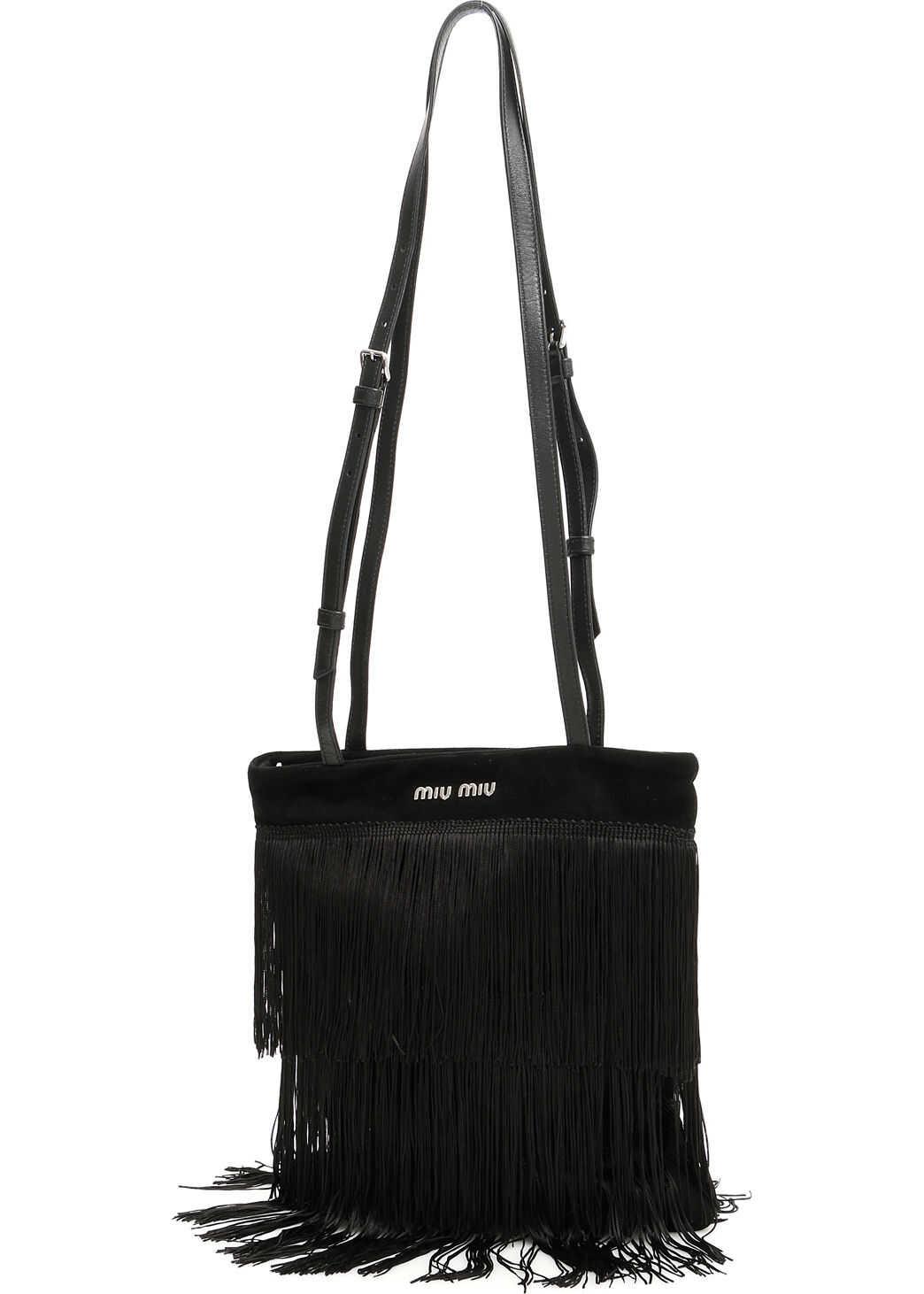 Miu Miu Fringed Bag NERO