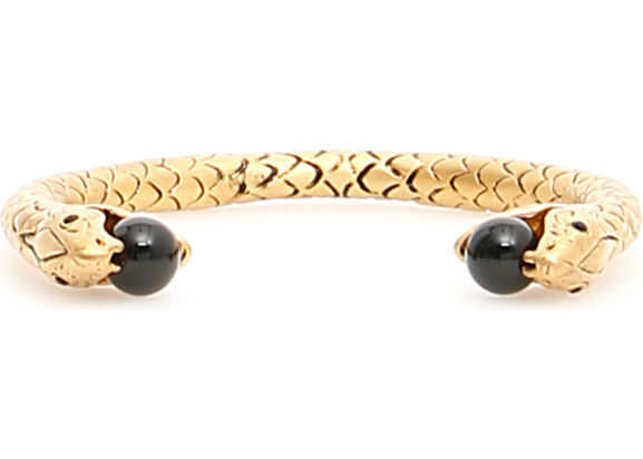 Saint Laurent Snake Bracelet DORE SATINE NOIR
