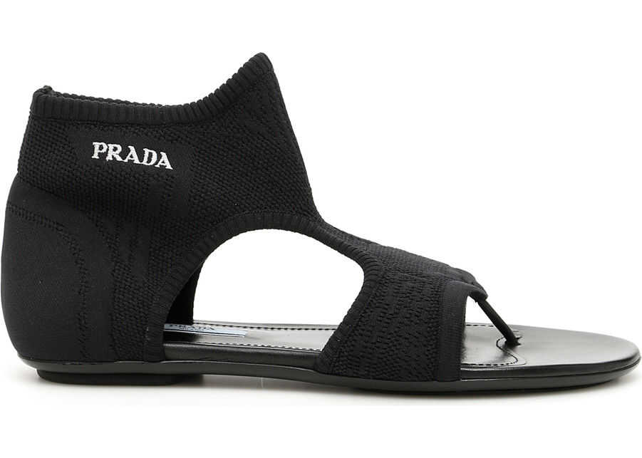Stretch Sock Sandals With Logo thumbnail