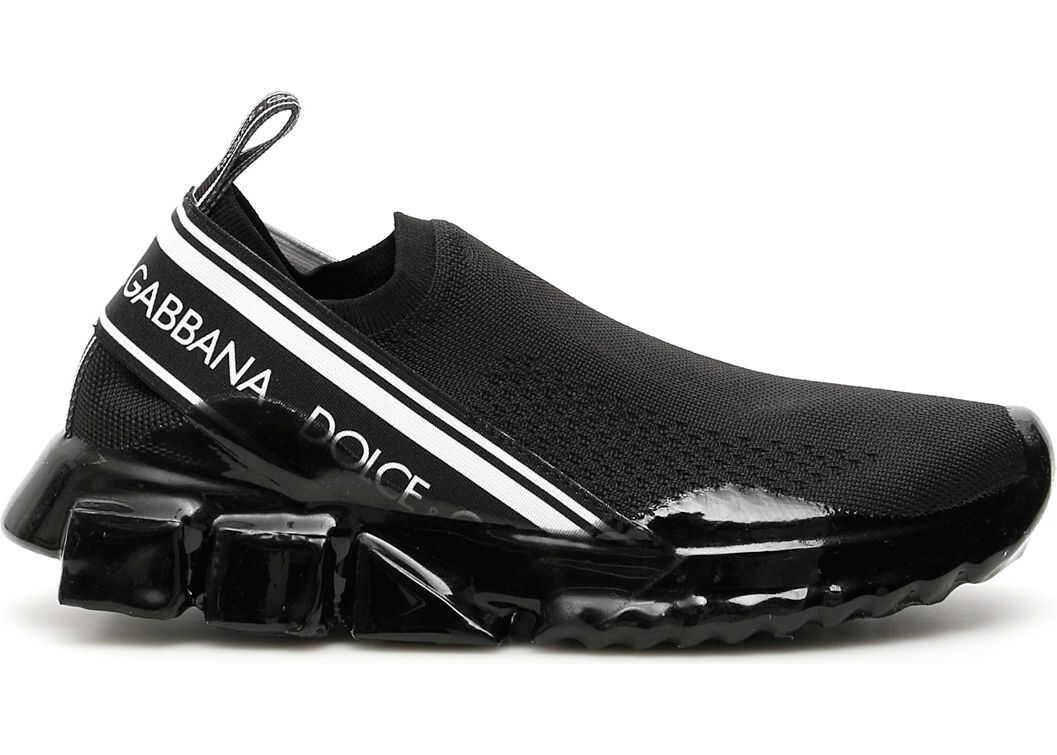 Dolce & Gabbana Sorrento Melt Knit Sneakers NERO