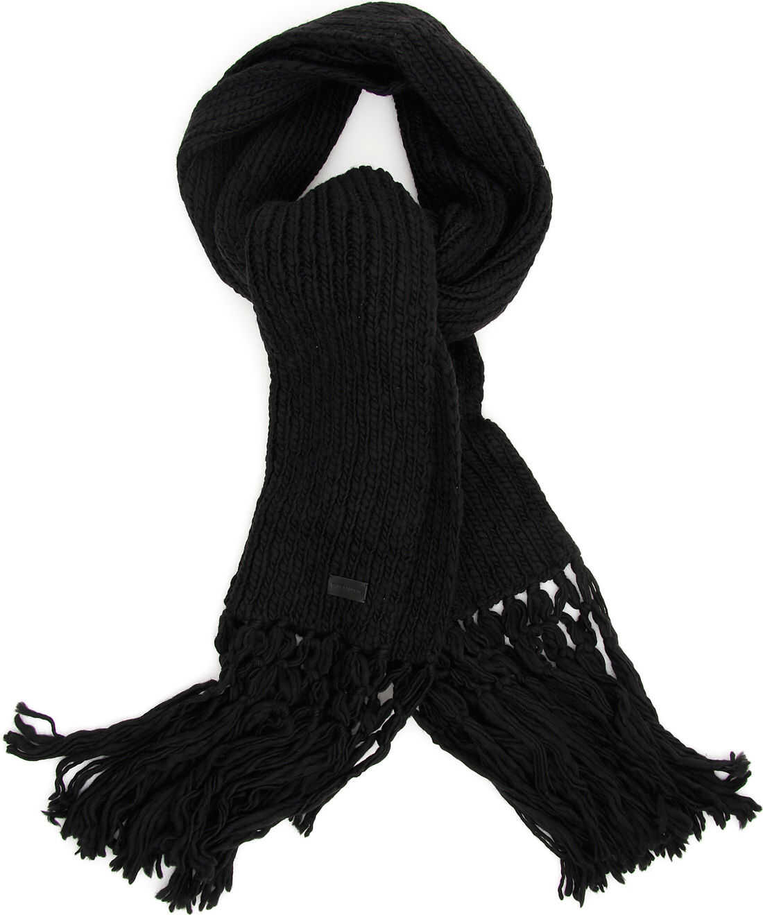 Saint Laurent Knit Scarf BLACK