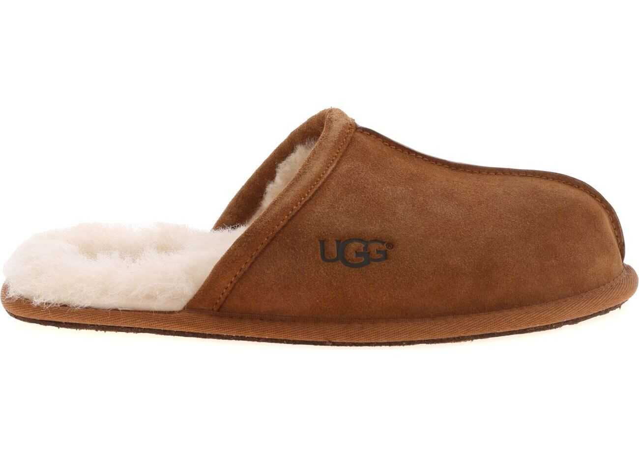 Scuff Slippers In Brown thumbnail