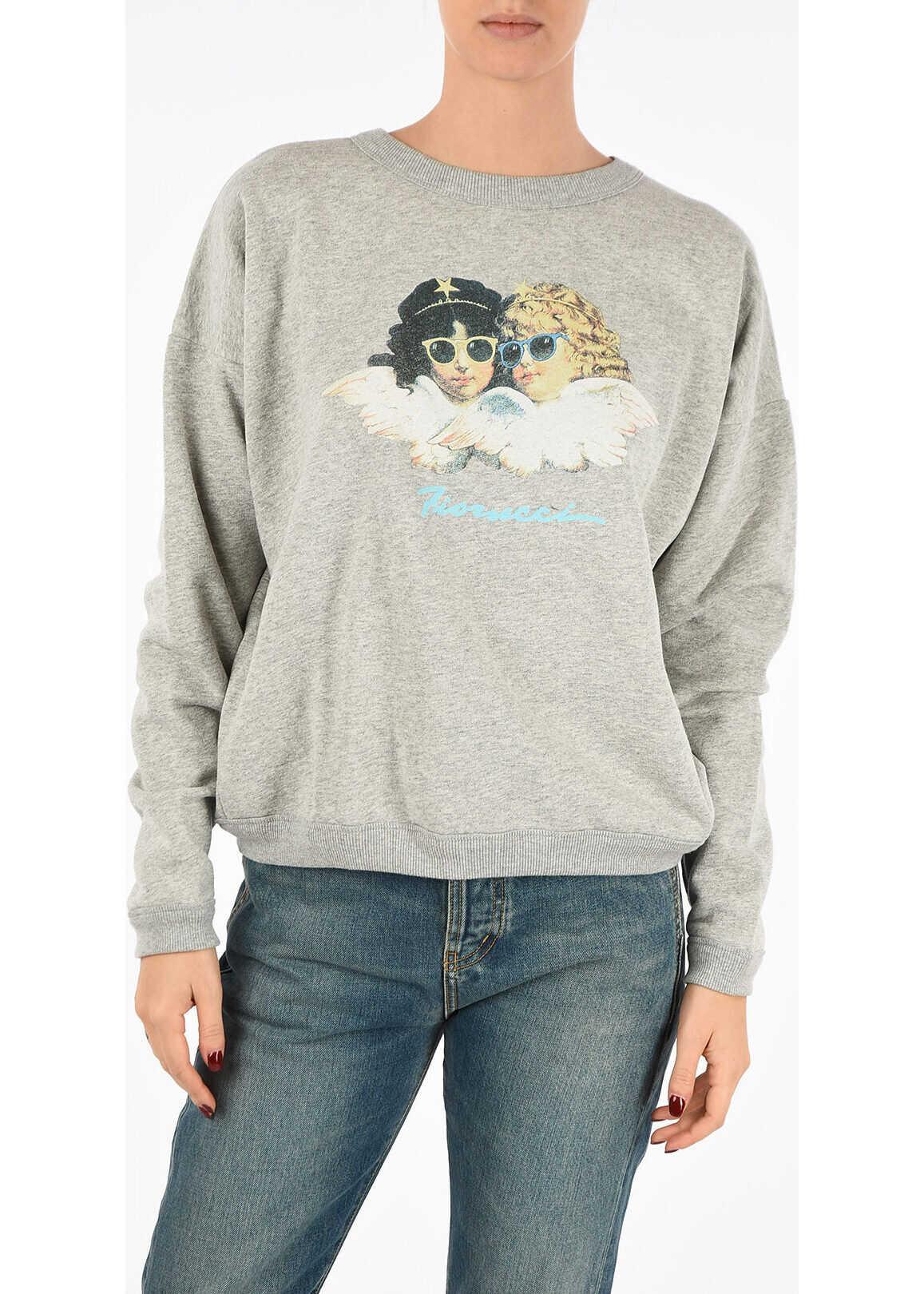 Fiorucci Printed Sweatshirt GRAY