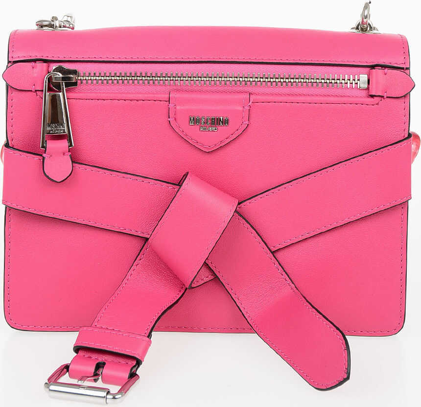 Moschino Leather Shoulder Bag PINK