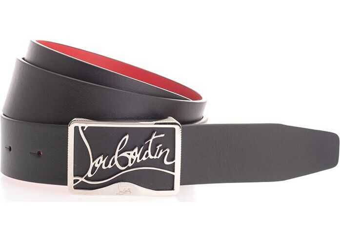 Christian Louboutin Leather Belt BLACK