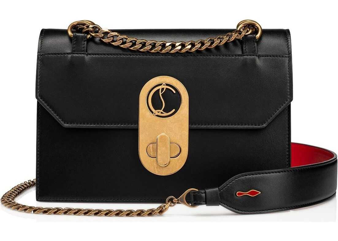 Christian Louboutin Leather Shoulder Bag BLACK